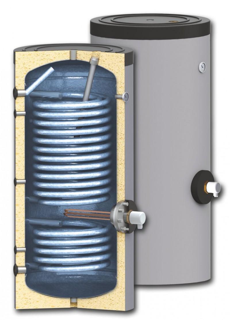 Boiler cu serpentine mărite pentru instalații cu pompe de căldură, model SWPN2