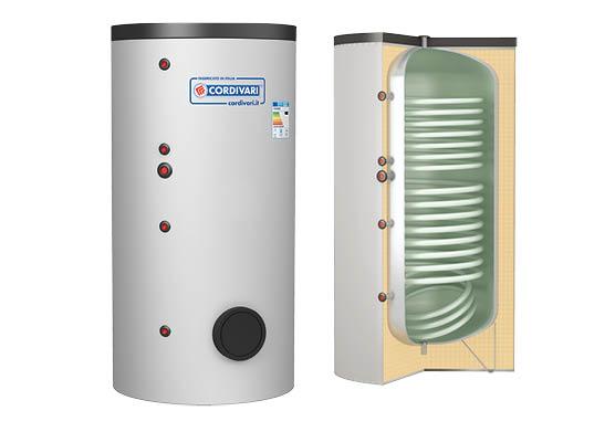 Boiler de apa calda cu acumulare Cordivari 2 ST WB cu doua serpentine
