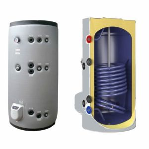 Boilere termoelectrice emailate cu doua serpentine Eldom Green Line - 1000 litri