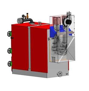 Centrala termica mixta pe peleti si biomasa FACI SUPER 3C - vedere din spate
