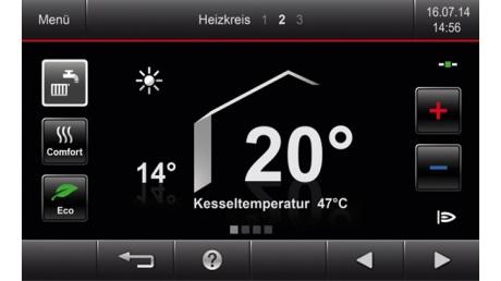 Centrala termica pe gaz in condensatie Vitodens 200-W - touchscreen