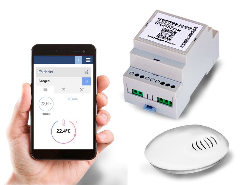 Controler de temperatura conectat la Internet COMPUTHERM B300RF Wi-Fi cu senzor de temperatura cu radiofrecventa