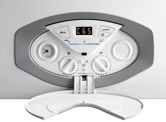 Centrala termica condensatie Ariston Clas B Premium Evo cu boiler incorporat panou de comanda
