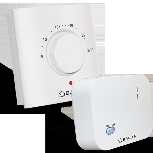 Termostat ambiental electronic cu radiofrecventa si buton rotativ SALUS ERT20RF