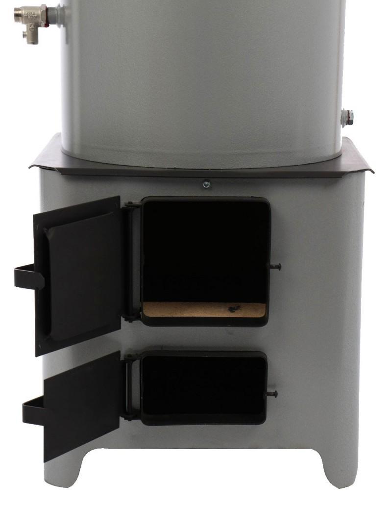 Ansamblu boiler pe lemn cu focar FM, tabla vopsita 90 l - vedere focar