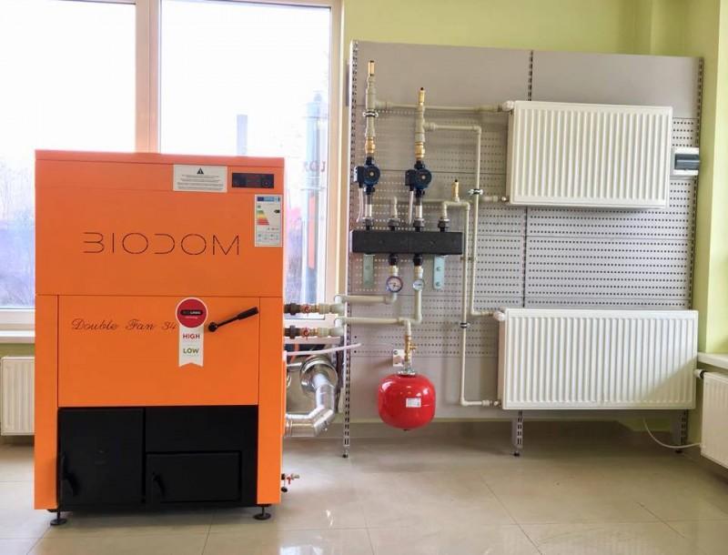 Centrala termica pe peleti BIODOM B27 C5 - exemplu de montaj