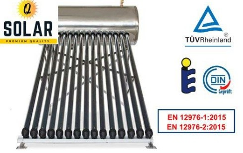 Panou solar Q Solar Premium presurizat boiler INOX 150 litri 15 tuburi vidate