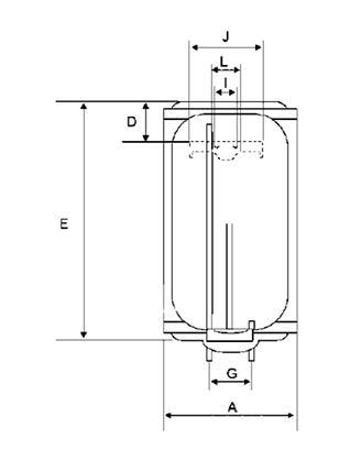 Boiler electric BANDINI BRAUN ECO - schema (pentru dimensiuni vezi pliantul)