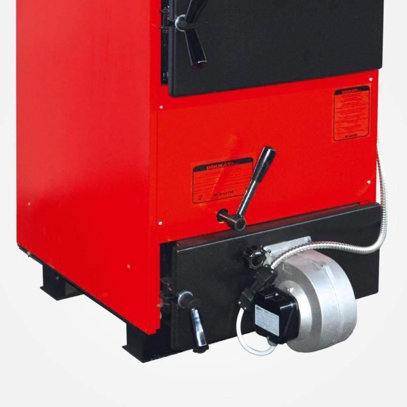 Centrala termica pe lemn cu tiraj fortat si regulator automat Maktek MKK