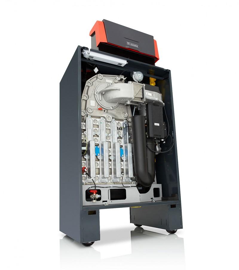Centrala termica in condensatie pentru gaz metan REMEHA G220 ACE - vedere din fata stanga fara capac