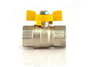 ROBINET DE TRECERE CU SFERA SI FLUTURE PT GAZ, PN25bar, FI-FI 1/2