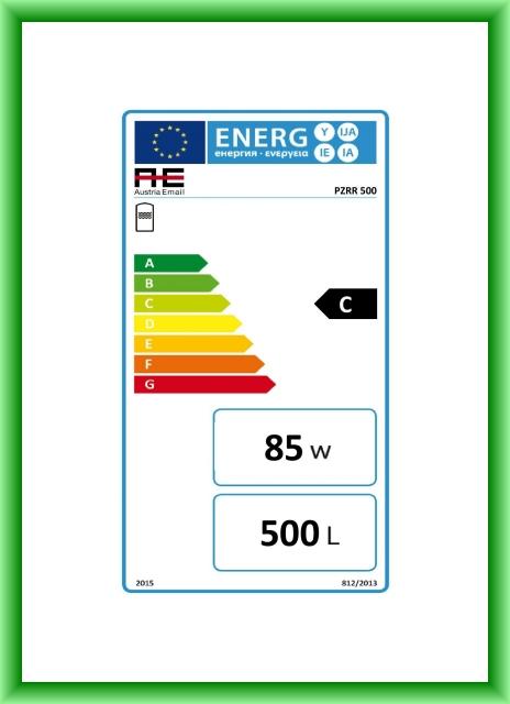 Puffer cu doua serpentine cu stratificare Austria-Email PZRR - eticheta energetica