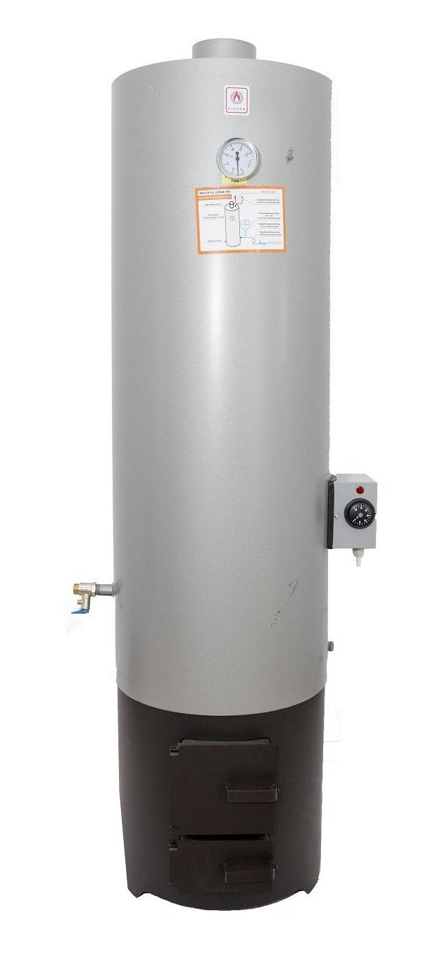 Ansamblu boiler 120 L cu focar cu usi din tabla + ELECTRIC