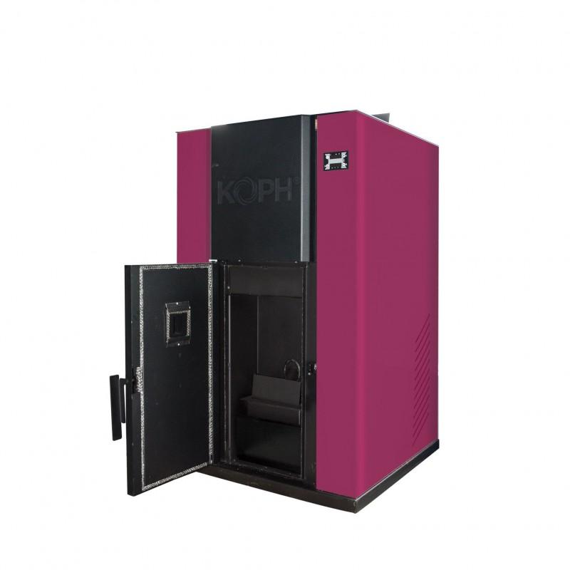 Centrala termica pe peleti PM 40 kW - culoare bordo