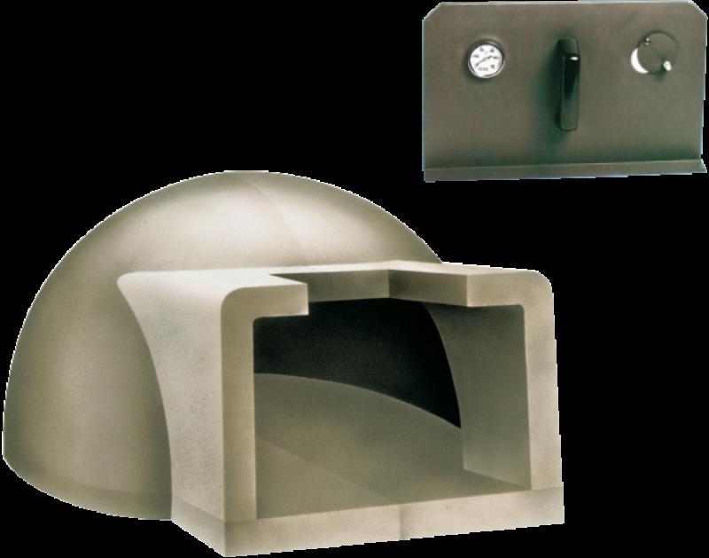 Cuptor pe lemne pentru paine prefabricat CLAM F110