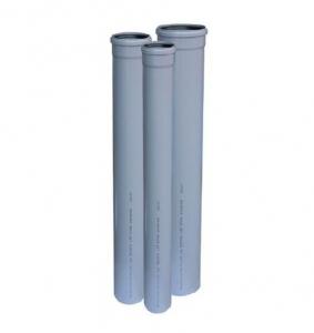 TEAVA PVC CU MUFA SI GARNITURA PT CANALIZARE GRI, D.40X1.5 mm L=0.5m