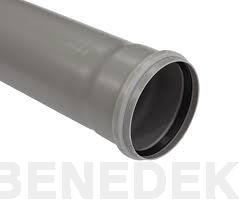 TEAVA PVC CU MUFA SI GARNITURA PT CANALIZARE GRI, D.110 mm L=2m