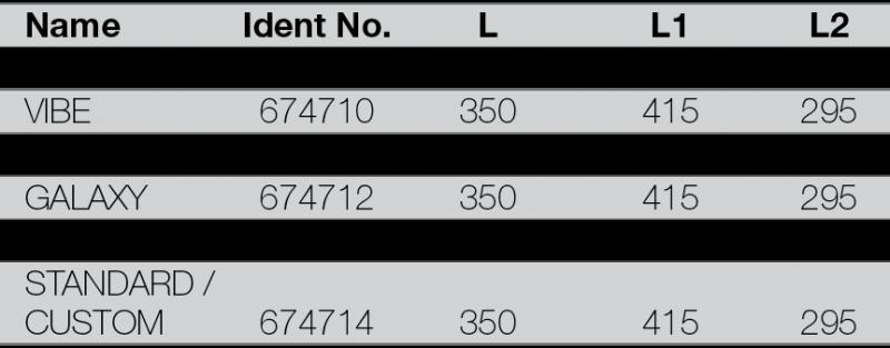 RIGOLA DE SCURGERE PENTRU DUS LIV 350 - tabel cu dimensiuni