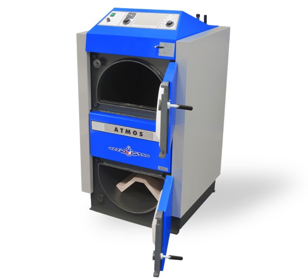 Centrala termica pe lemn cu gazeificare ATMOS - cu usile deschise