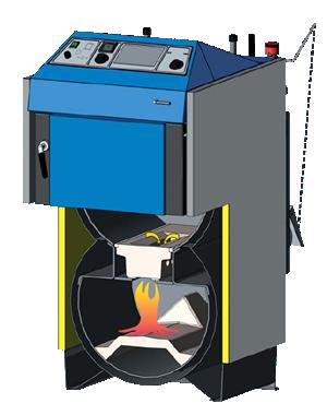 Schema functionala centrale termice ATMOS - tip DC30SX, DC32S, DC40SX