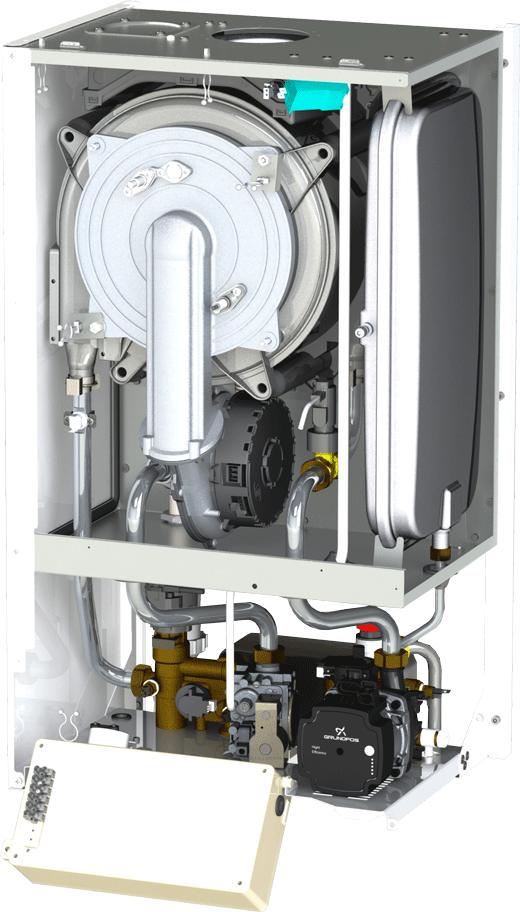 Centrala termica Motan MKDens29 - vedere interioara