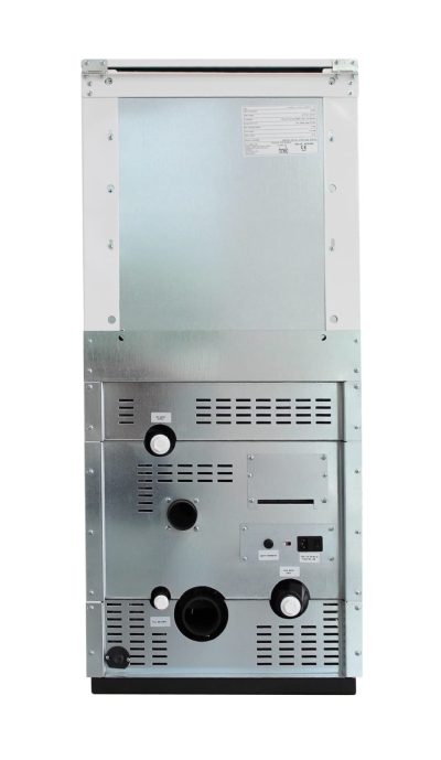 Centrala termica pe peleti ROSSI CAMINO COMPACT 35 kW - vedere din spate