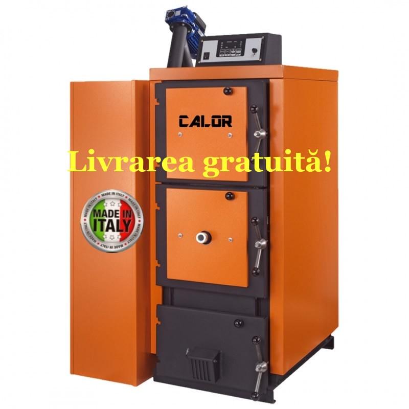 Centrala termica mixta pe lemn si peleti CalorCaldaie MX Automatica - Livrarea gratuită