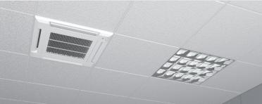 Echipament de climatizare tip caseta FUJITSU - exemplu de montare unitate interioara