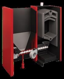 Poza Centrala termica pe combustibil solid si peleti ATTACK FD AUTOMAT 25 F5DA25P sectiune