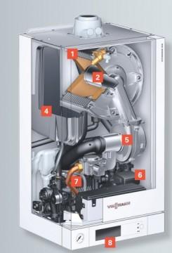 poza Centrala termica pe gaz in condensatie Vitodens 100-W 26 kW incalzire