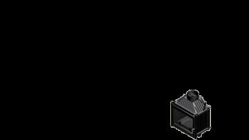Poza Focar de semineu din fonta M80 8 kW - dimensiuni de gabarit