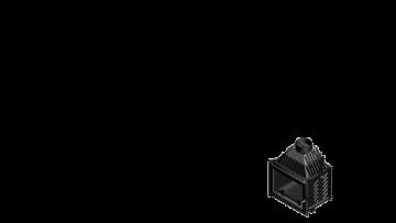 Poza Focar de semineu din fonta Z160 16 kW - dimensiuni de gabarit