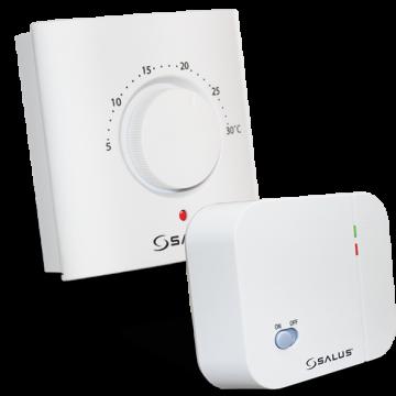 Poza Termostat ambiental electronic cu radiofrecventa si buton rotativ SALUS ERT20RF