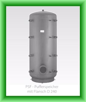 Poza Puffer fara serpentina cu flansa Austria-Email model PSF - vedere fara izolatie