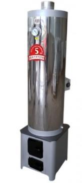 poza Ansamblu boiler inox 90L cu focar economic FM + ELECTRIC