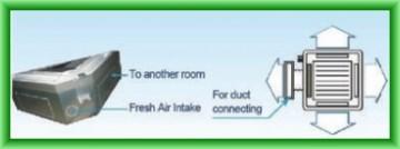 Poza Priza de aer proaspat si racord pentru tubulatura de aer
