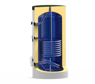 Poza Boiler termoelectric emailat cu o serpentina Eldom Green Line - 1000 L- sectiune