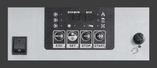 Poza Centrala termica pe peleti CalorCaldaie MX Automatica - panou de comanda