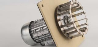 Poza Centrala termica pe peleti CalorCaldaie MX Automatica - ventilator de tiraj