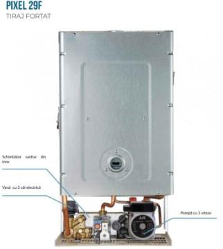 Poza Centrala termica pe gaz ARCA PIXEL 29F - vedere interioara