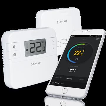 Poza Termostat ambiental cu radiofrecventa Salus RT310i controlat prin Internet (telefonul nu este inclus in furnitura)