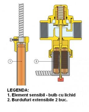 Poza Vana de descarcare de siguranta termostatata DN 20 mm - sectiune