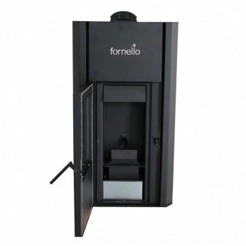Poza Termosemineu pe peleti FORNELLO PRIMO PELLET 25 kW - vedere cu usa deschisa
