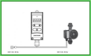 Poza Controler electronic digital pentru pompe COMPUTHERM WPR-100GD - schema de montaj