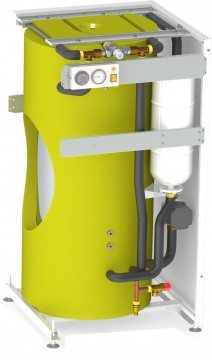 Poza Boiler de apa calda cu acumulare din otel inoxidabil Motan tip BA120L-V1 - vedere interioara