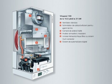 poza Centrala termica pe gaz Viessmann Vitopend 100-W  24 kW cu tiraj natural