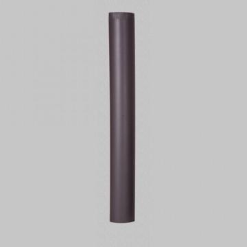poza Burlan din tabla de otel de culoare neagra 1 m